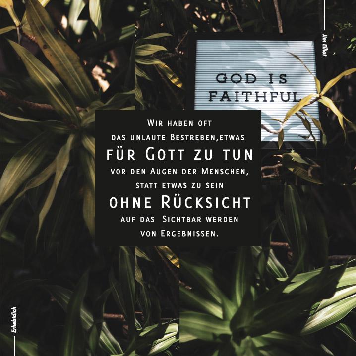 Tue etwas für Gott - ohne Ansage!
