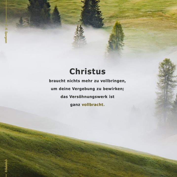 Christus hat das Werk vollbracht!