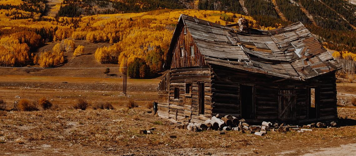 Die verfallene Hütte - Zustand vor dem allmächtigen Gott.