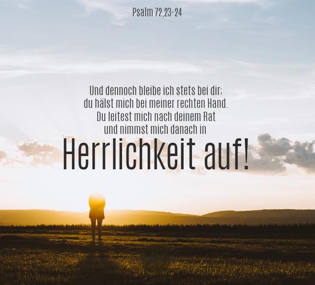 Bibelsprüche für den Alltag - Psalm 73, 23-24