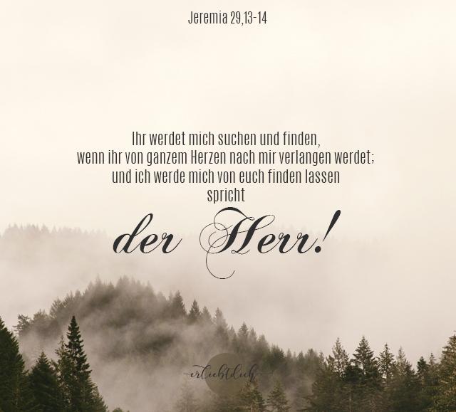 Bibelsprüche für den Alltag - Jeremia, 13-14