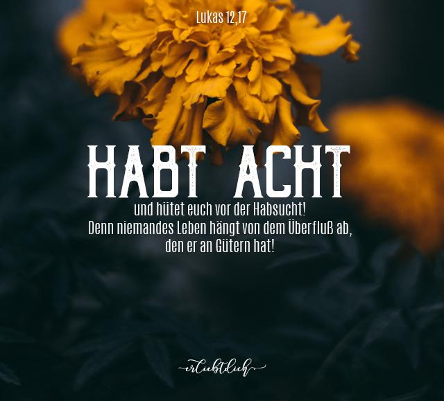 Bibelsprüche für den Alltag - Lukas 12,15