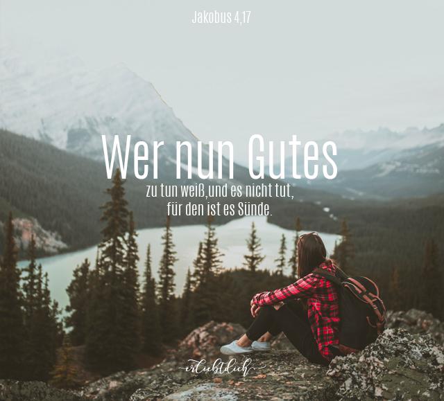 Bibelsprüche für den Alltag - Jakobus 4,17