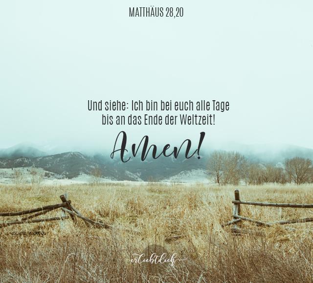 Bibelsprüche für den Alltag - Matth 28, 20b