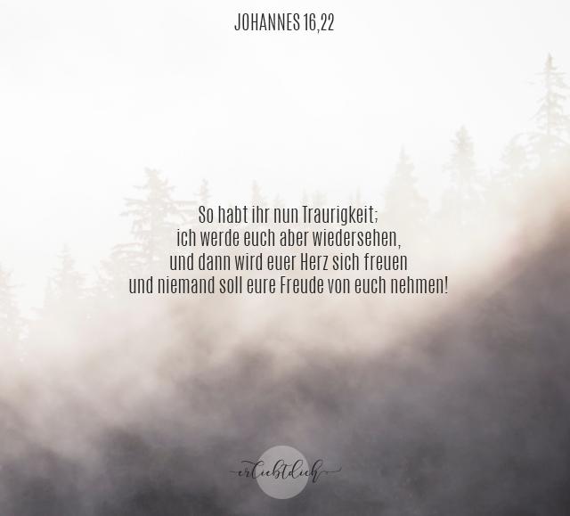 Bibelsprüche für den Alltag - Johannes 16,22