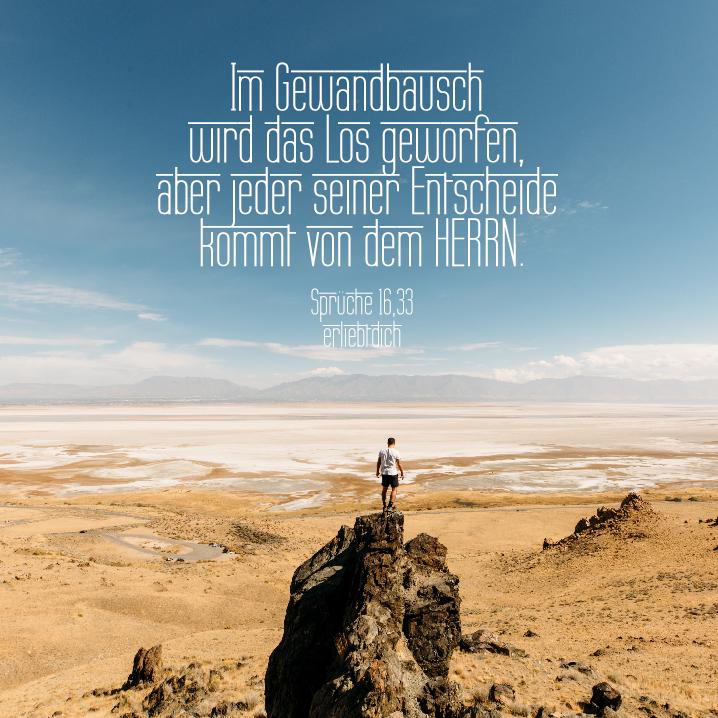 Bibelsprüche für den Alltag - Sprüche 16,33