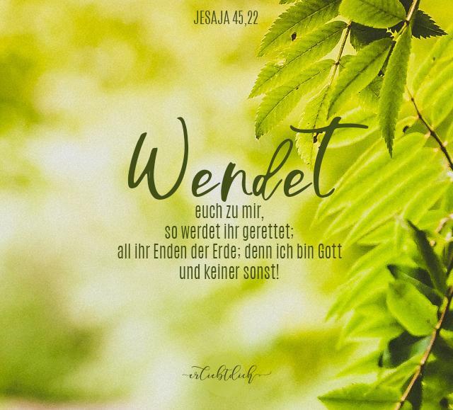 Bibelsprüche für den Alltag - Jesaja 45,22