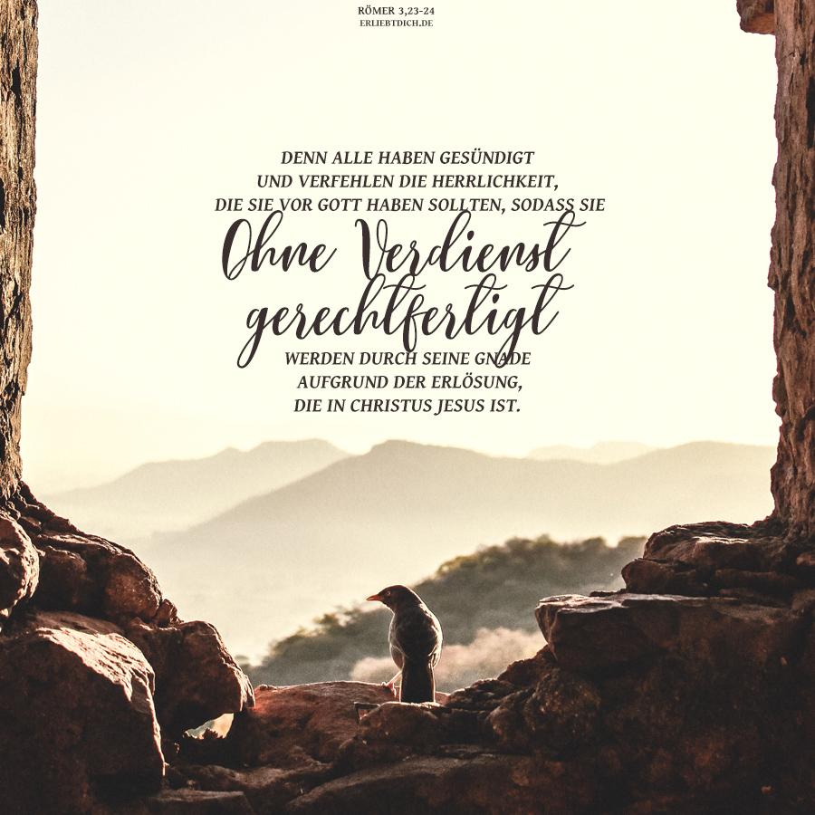 Ohne Verdienst gerechtfertigt. Allein durch Gottes Gnade!
