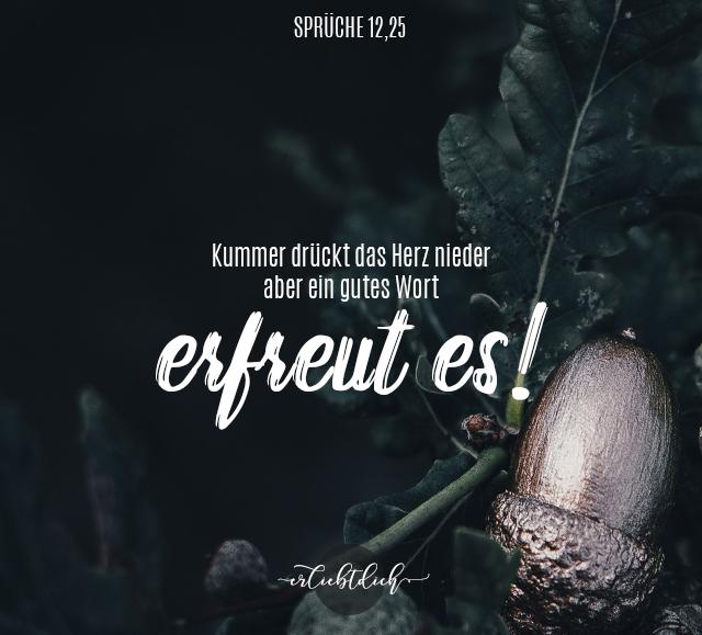 Bibelsprüche für den Alltag - Sprüche 12,25