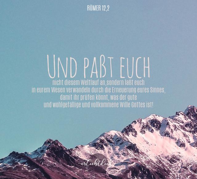 Bibelsprüche für Alltag - Römer 12,2