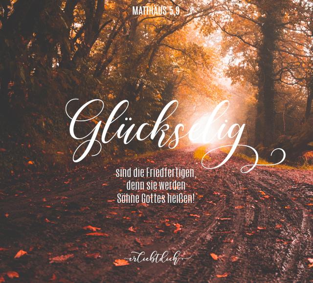 Bibelsprüche für den Alltag - Matthäus 5,9