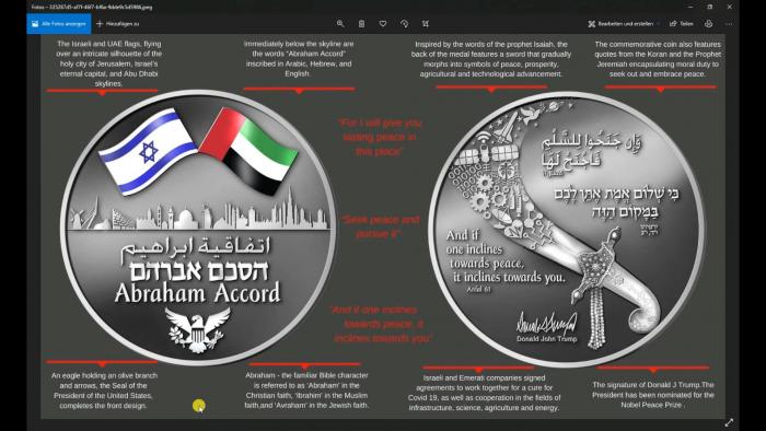 Abraham Abkommen – die Münze, die uns die Neue Weltordnung aufzeigt!