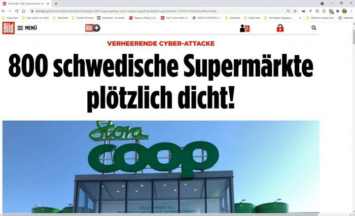"Erneuter ""Cyber Angriff"". 800 Supermärkte waren dicht!"