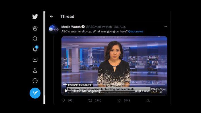 Australischer Nachrichtensender blendet live satanische Messe ein!