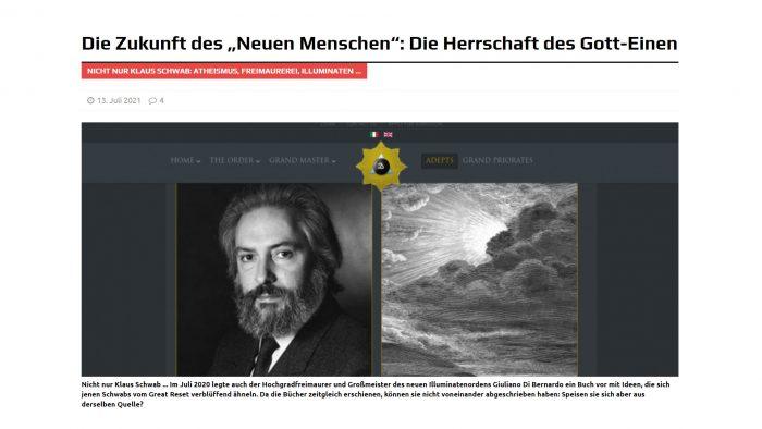 """Die Herrschaft des """"Gott-Einen"""" Ansichten eines Illuminaten."""